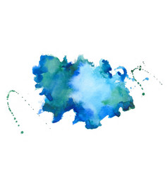 blue watercolor splater stain texture background vector image