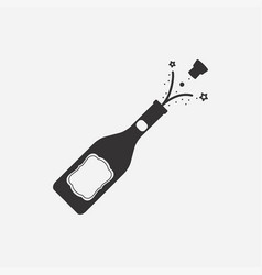 Bottle champagne icon vector