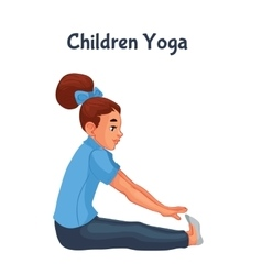brown haired girl doing yoga vector image