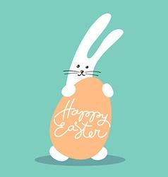 Bunny happy easter vector