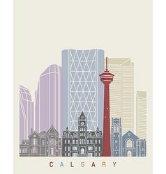 Calgary skyline poster vector