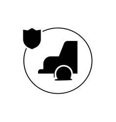 car insurance icon isolated vector image