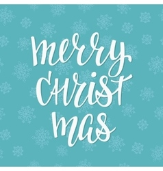 Christmas lettering typography vector