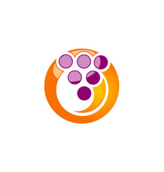 Circle dot abstract technology logo vector