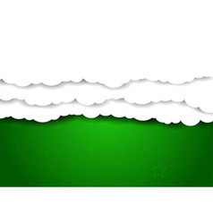 Clouds over green sky - background vector image