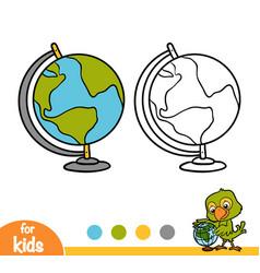coloring book globe vector image