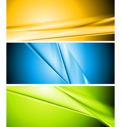 Colourful abstract banners vector image vector image