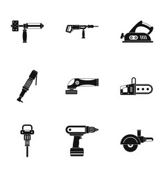 Construction tool icon set simple style vector