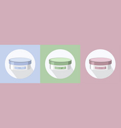 Cosmetics set package icons hydration vector