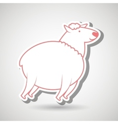 counting sheep design vector image