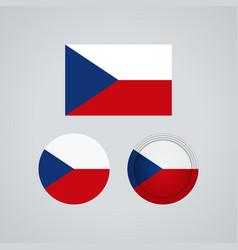 czech trio flags vector image