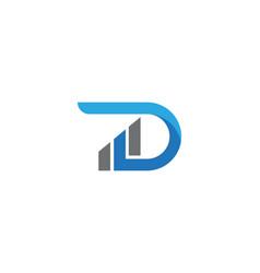 d letter business finance logo template vector image