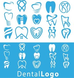 Dental logo set vector