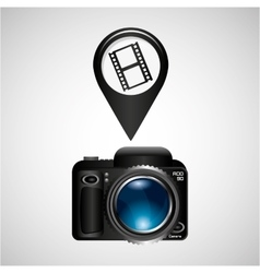 digital photo camera roll film vector image