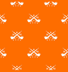 discover america 1492 pattern orange vector image