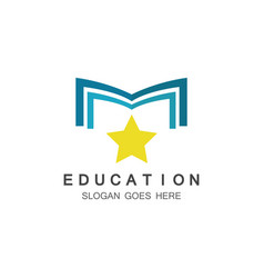 education logo vector image