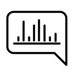 Equalizer bubble talk sound line style icon vector