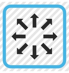 Explode Arrows Icon In a Frame vector