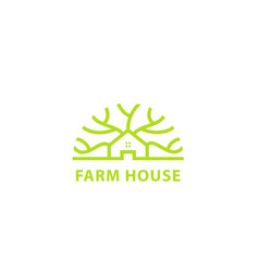 farm house design logo vector image