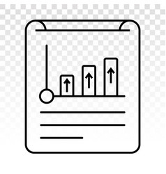 Financial report or income statement line art vector