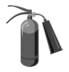 Fire extinguisher icon gray monochrome style vector