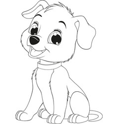 funny childs dog vector image