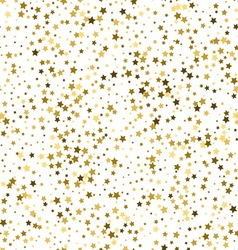 Gold star seamless pattern vector