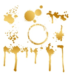 golden blots vector image