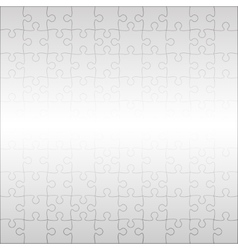 Grey Puzzles Pieces Square GigSaw - 100 vector