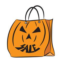 halloween sale bag 2 vector image
