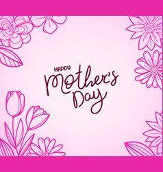 happy mothers day greeting card with beautiful 3d vector image