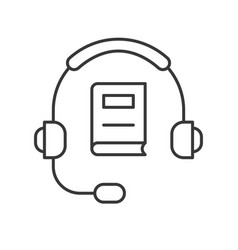 headphone and book technology and e-learning icon vector image