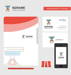 hook business logo file cover visiting card and vector image