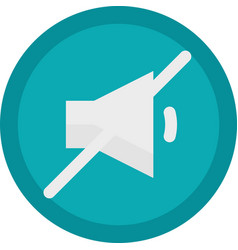 icon of a sound off button in flat style vector image