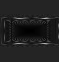 Infinite rectangular tunnel of shining vector