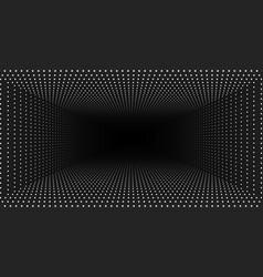 Infinite rectangular tunnel shining vector