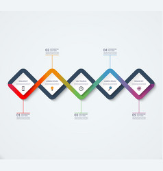 infographic template of square elements vector image