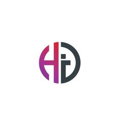 initial letter hj hi creative design logo vector image