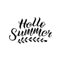 inspirational handwritten phrase hello summer vector image