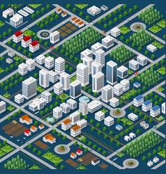 isometric 3d megapolis vector image