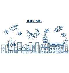 italy bari winter city skyline merry christmas vector image