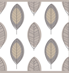 leaves seamless pattern design element can be vector image