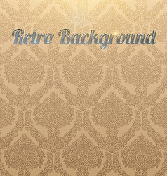Light Brown Seamless Floral Background vector