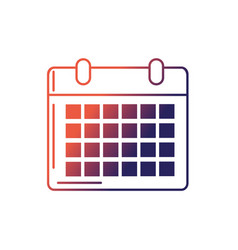 line calendar to organizar important events vector image