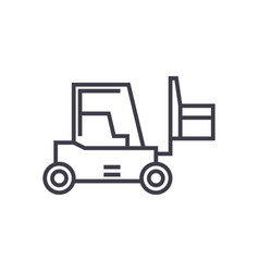 loader sign line icon sign vector image vector image