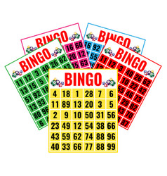 lottery game tickets logo design in gambling vector image