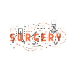 Medicine concept surgery vector