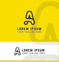 minimalist and modern type a logo vector image