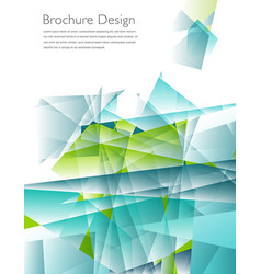 modern business brochure cover template vector image