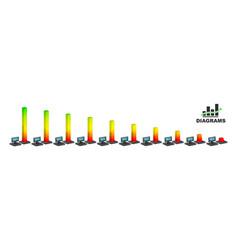 modern gradient diagram vector image